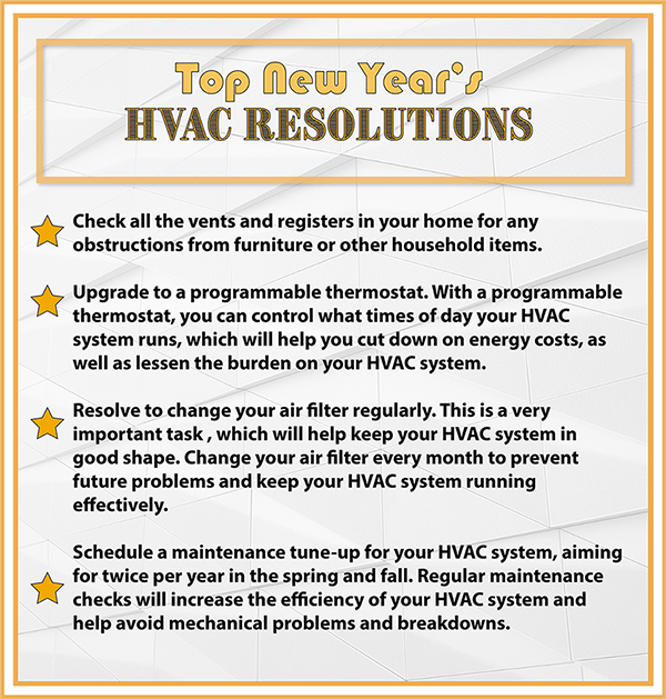 Top HVAC New Years Resolutions